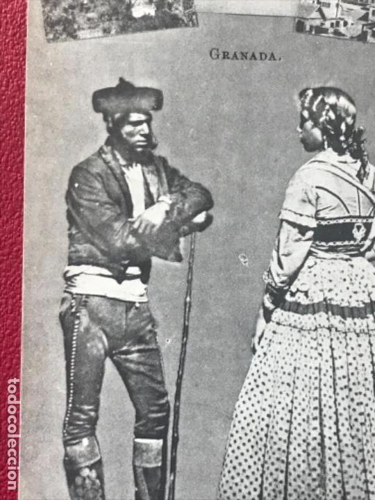 Postales: granada folklore antigua postal pareja trajes tipicos regionales j roig - Foto 2 - 164885206