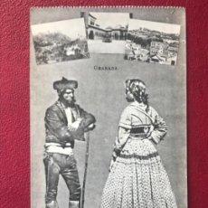 Postales: GRANADA FOLKLORE ANTIGUA POSTAL PAREJA TRAJES TIPICOS REGIONALES J ROIG . Lote 164885206