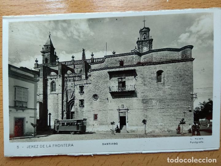 POSTAL FOTOGRAFICA. JEREZ DE LA FRONTERA. SANTIAGO. Nº 5. L. ROISIN. TRANVIA. (Postales - España - Andalucía Antigua (hasta 1939))