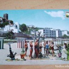 Postales: TORREMOLINOS ( MALAGA ) PLAYA DEL BAJONDILLO. Lote 165015550