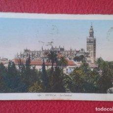 Postales: ANTIGUA POSTAL POST CARD CARTE POSTALE SEVILLA SEVILLE LA CATEDRAL CATHEDRALE ESCRITA EN 1953 VER FO. Lote 165176330