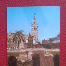 Postales: POSTAL POST CARD CARTE POSTALE SEVILLA SEVILLE EL ALCÁZAR PATIO DE MONTERÍA SI VISITA, VOLVERÁ SPAIN. Lote 165199482