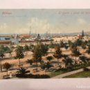 Postales: MALAGA. POSTAL COLOREADA. EL PUERTO Y PASEO DEL PARQUE. EDITA: PURGER & CO. (H.1930?) ESCRITA... Lote 165370537