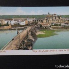 Postales: CORDOBA VISTA DEL PUENTE DESDE LA TORRE DE CARRAOLA ED. PURGER Nº 2743 REVERSO SIN DIVIDIR. Lote 165457974