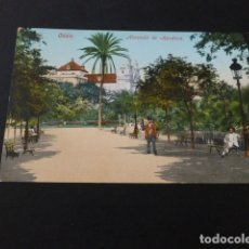 Postales: CADIZ ALAMEDA DE APODACA ED. PURGER Nº 2001 REVERSO DIVIDIDO. Lote 165461846