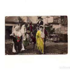 Postales: SEVILLA.- COSTUMBRES DE SEVILLA.- CAMINO DE LA FERIA.. Lote 165475274