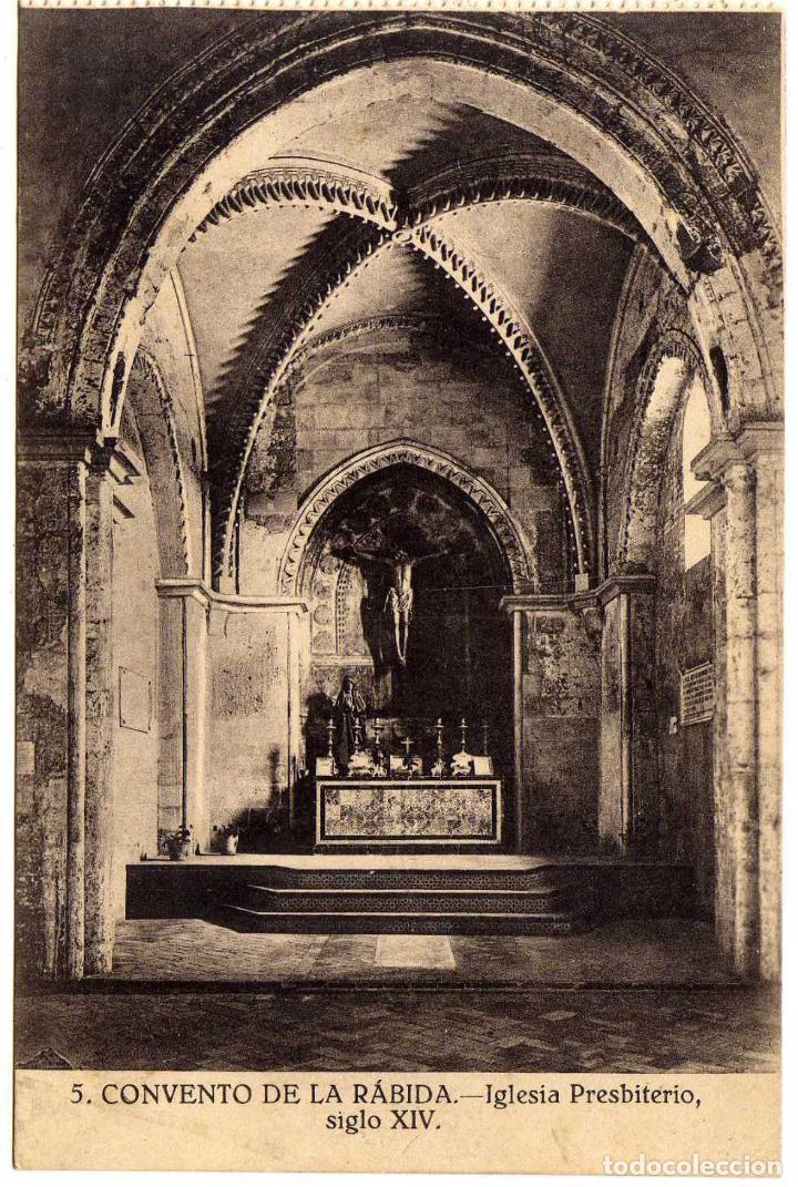 BONITA POSTAL - HUELVA - CONVENTO DE LA RABIDA - IGLESIA PRESBITERIO - SIGLO XIV (Postales - España - Andalucía Antigua (hasta 1939))