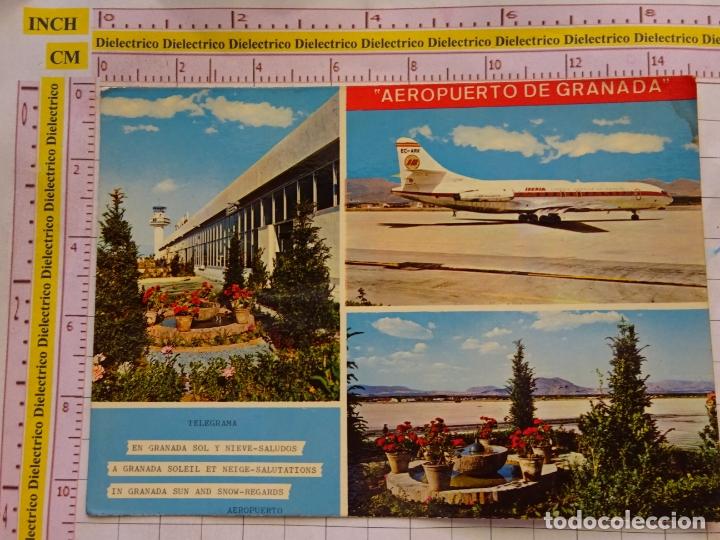POSTAL DE GRANADA. AÑO 1972. AEROPUERTO DE GRANADA. AVIÓN IBERIA CARAVELLE. 1228 (Postales - España - Andalucia Moderna (desde 1.940))