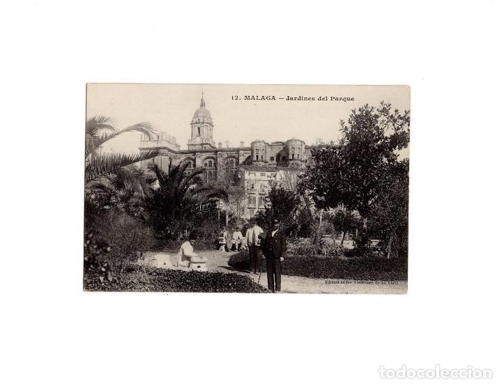 MÁLAGA.- JARDINES DEL PARQUE. (Postales - España - Andalucía Antigua (hasta 1939))