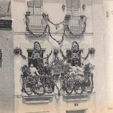 Postales: STENGEL & CO. 22325. SEVILLA (TRIANA) CONCURSO DE BALCONES. REVERSO SIN DIVIDIR. Lote 165736614
