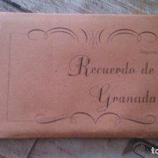 Postales: RECUERDO DE GRANADA 9 POSTALES, SEGUNDA SERIE. Lote 165744038