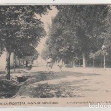 Postales: JEREZ DE LA FRONTERA PASEO DE LOS CAPUCHINOS. EDICIÓN PROPIEDAD DE LA CASA SALIDO HERMANOS. SIN CIRC. Lote 165762202