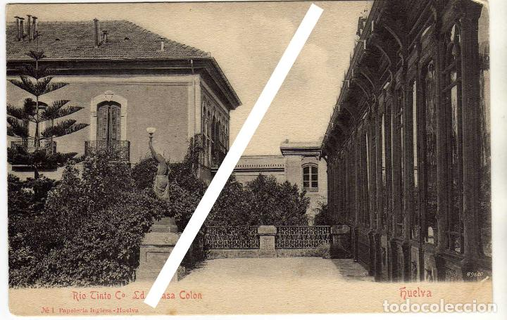 POSTAL RIO TINTO CO. LD., CASA COLON - (HUELVA) (Postales - España - Andalucía Antigua (hasta 1939))