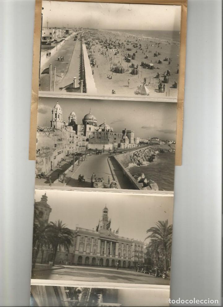 Postales: BLOC DE 10 POSTALES FOTOGRAFICAS EN ACORDEON -RECUERDO DE CADIZ-Nº 2- EDICIONES AISA- - Foto 4 - 165855378