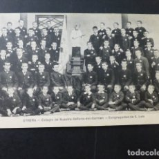 Postales: UTRERA SEVILLA COLEGIO DE NUESTRA SEÑORA DEL CARMEN CONGREGANTES DE SAN LUIS. Lote 166055954