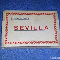 Postales: SEVILLA BLOC CON 21 POSTALES FOTOGRAFIAS EN COLOR AÑO 1964 VER FOTOS Y DESCRIPCION. Lote 166158442