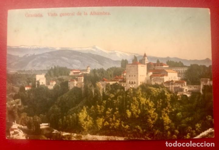 Postales: granada vista general de la alhambra antigua postal coloreada sin circ colores bonitos purger 5838 - Foto 4 - 166219814