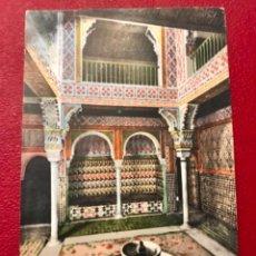 Postales: GRANADA SALA DE LAS CAMAS ALHAMBRA ANDALUCIA ANOTIGUA POSTAL COLOREADA PURGER 5806 EXCELENTE. Lote 166219942