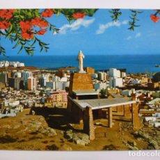Postales: POSTAL. 7060. ALMERÍA. VISTA PARCIAL Y MONUMENTO AL SAGRADO CORAZÓN DE JESÚS. ED. SEGURA. BEASCOA. . Lote 166246498