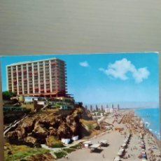 Postales: POSTAL TORREMOLINOS COSTA DEL SOL HOTEL Y PLAYAS DE LA ROCA. Lote 166359842