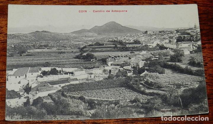 POSTAL DE COIN, ANTEQUERA, MALAGA, CAMINO DE ANTEQUERA, CASA EDITORIAL PHG VALLADOLID, NO CIRCULADA. (Postales - España - Andalucía Antigua (hasta 1939))