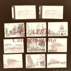 Postales: LA LINEA DE LA CONCEPCION, CADIZ - 11 CLICHES ORIGINALES - NEGATIVOS EN CRISTAL - EDICIONES ARRIBAS. Lote 166547406