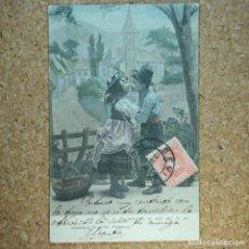 Postales: POSTAL COLOREADA SEVILLA, CIRCULADA EN 1904, NIÑOS. Lote 166580394