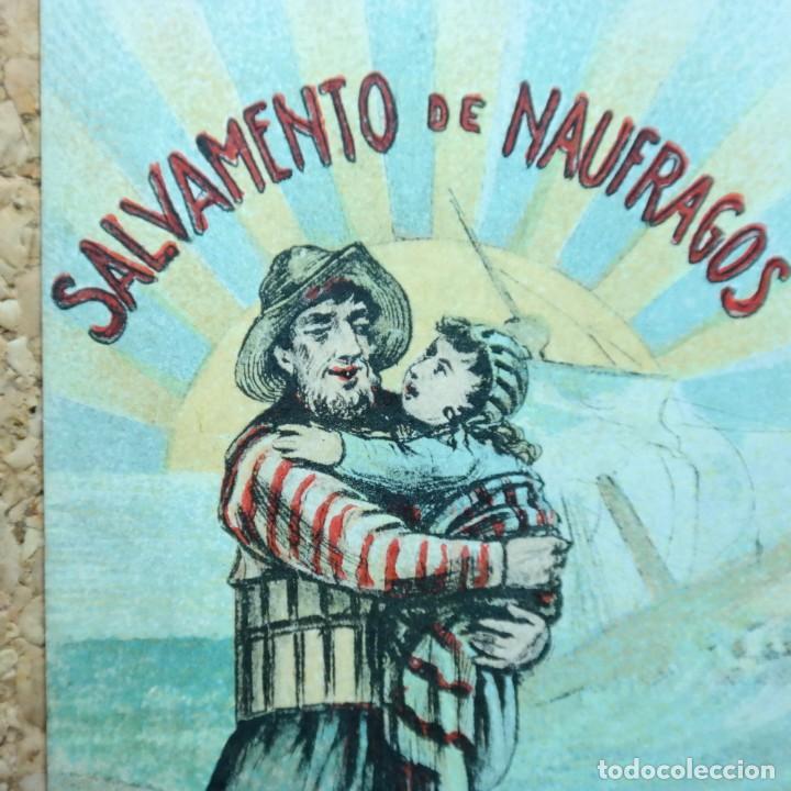 Postales: Postal Salvamiento de Naufragos N° 32, Miguel Jover, Sevilla, circulada en febrero de 1903 - Foto 2 - 166580650