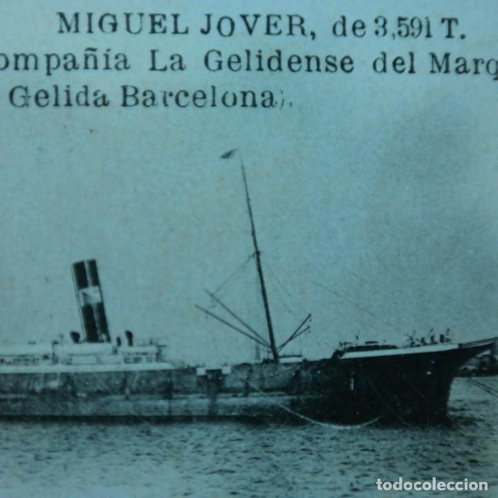 Postales: Postal Salvamiento de Naufragos N° 32, Miguel Jover, Sevilla, circulada en febrero de 1903 - Foto 4 - 166580650