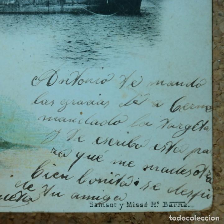 Postales: Postal Salvamiento de Naufragos N° 32, Miguel Jover, Sevilla, circulada en febrero de 1903 - Foto 5 - 166580650