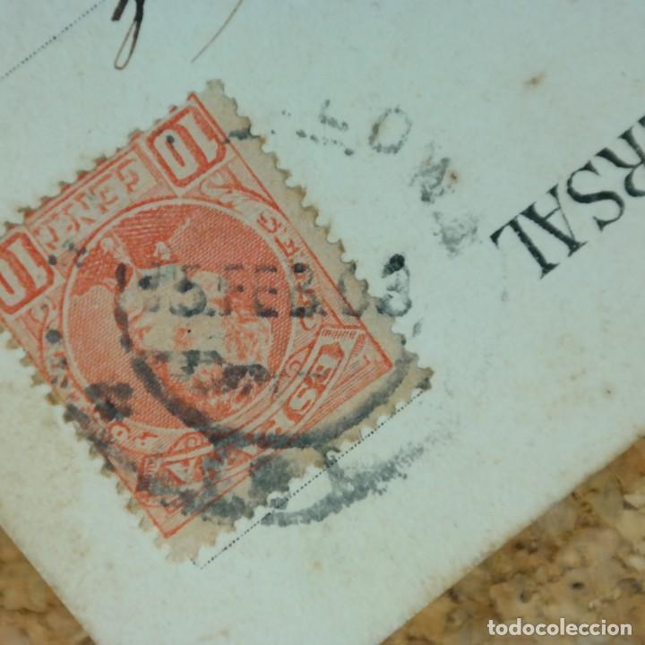 Postales: Postal Salvamiento de Naufragos N° 32, Miguel Jover, Sevilla, circulada en febrero de 1903 - Foto 7 - 166580650