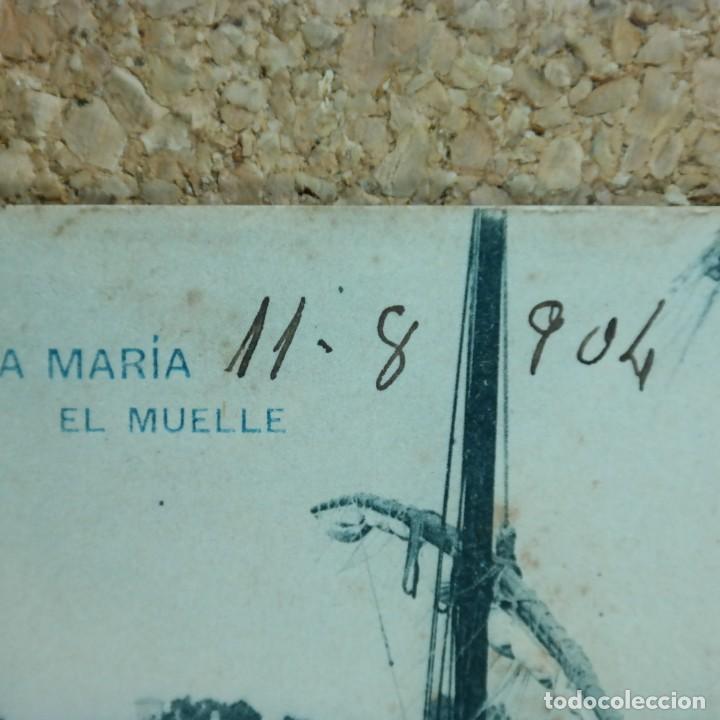 Postales: Postal Cádiz, Puerto de Santa María, circulada 11 agosto 1904 - Puerto de Santa María a Sevilla - Foto 4 - 166581214