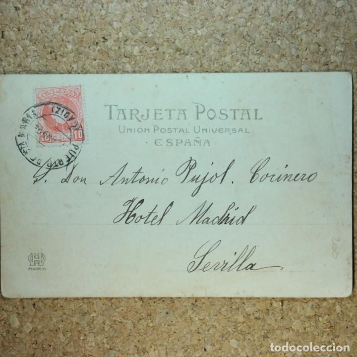 Postales: Postal Cádiz, Puerto de Santa María, circulada 11 agosto 1904 - Puerto de Santa María a Sevilla - Foto 5 - 166581214