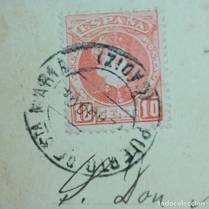 Postales: Postal Cádiz, Puerto de Santa María, circulada 11 agosto 1904 - Puerto de Santa María a Sevilla - Foto 6 - 166581214