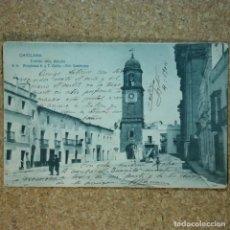 Postales: POSTAL CÁDIZ - CHICLANA, ESCRITA 4 DE AGOSTO 1904, CIRCULADA CÁDIZ A SEVILLA, TORRE DEL RELOJ. Lote 166581278