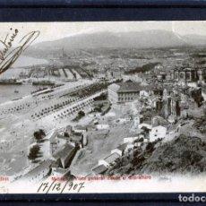 Postales: POSTAL DE MALAGA=VISTA GENERAL=EDICIÓN P.Z.BLANCO Y NEGRO-NUMERADA-ESCRITA Y FRANQUEADA .. Lote 166600306