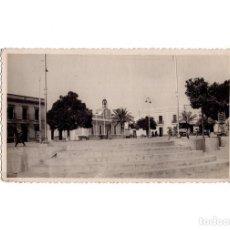 Postales: GIBRALEÓN.(HUELVA).- PLAZA CALVO SOTELO. POSTAL FOTOGRÁFICA. FOTO BAEZ.. Lote 166619090