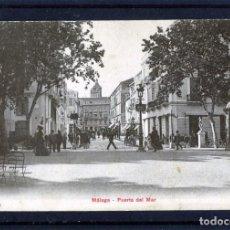 Postales: POSTAL DE MALAGA=PUERTA DEL MAR=EDICIÓN P.Z. NUMERADA-BLANCO Y NEGRO-NUEVA SIN FRANQUEAR .. Lote 166659202