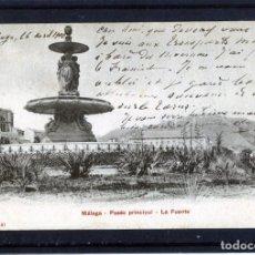 Postales: POSTAL MALAGA=LA FUENTE=EDICIÓN P.Z.NUMERADA-REVERSO RAYADO HORIZONTAL-CIRCULADA FRANQUEADA .. Lote 166690762