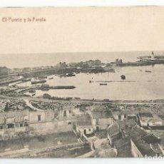 Postales: POSTAL DE MALAGA FOTOTIPIA THOMAS DE BARCELONA - EL PUERTO Y LA FAROLA- SIN CIRCULAR. Lote 167852824