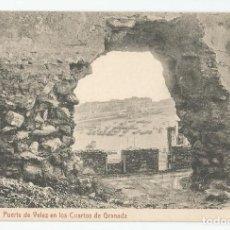 Postales: POSTAL DE MALAGA FOTOTIPIA THOMAS DE BARCELONA - PUERTA DE VELEZ EN LOS CUARTOS DE GRANADA-MBC. Lote 167855124