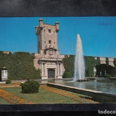 Postales: Nº 60 RELOJ FLORAL Y PLAZA DE ESPAÑA. CÁDIZ. Lote 168217564