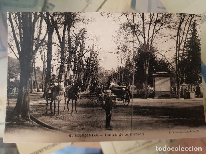 ANTIGUA POSTAL GRANADA PASEO DE LA BOMBA MARTINEZ JULIA (Postales - España - Andalucía Antigua (hasta 1939))