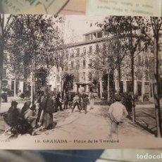 Postales: ANTIGUA POSTAL GRANADA PLAZA DE LA TRINIDAD MARTINEZ JULIA. Lote 168280172