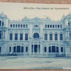 Postales: POSTAL MÁLAGA. UNA FACHADA DEL AYUNTAMIENTO. Lote 168319792