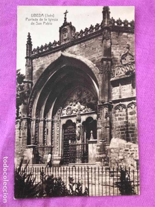 POSTAL UBEDA JAEN PORTADA DE LA IGLESIA DE SAN PABLO LA LOMA SIN CIRCULAR (Postales - España - Andalucía Antigua (hasta 1939))