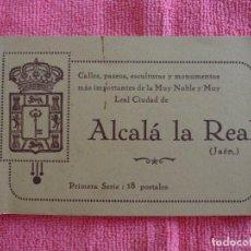 Postales: LIBRITO DE 18 ( HAY 16 ) POSTALES DE ALCALÁ LA REAL, CALLES, PASEOS, TALLAS Y MONUMENTOS. 1ª SERIE. Lote 168484300