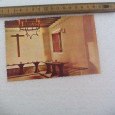 Postales: Nº 16, MONASTERIO DE LA RABIDA. HUELVA. REFECTORIO. FOTOCOLOR VALMAN. POSTAL POSTCARD. Lote 168866252