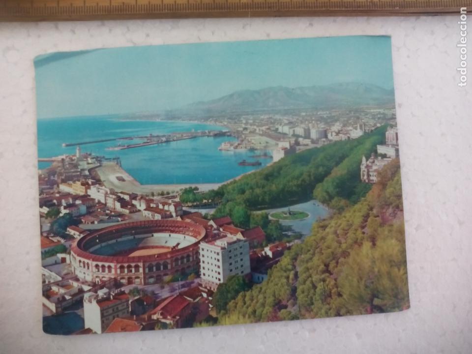 2.010 MÁLAGA. PLAZA DE TOROS. ARRIBAS. ESCRITA. POSTAL POSTCARD (Postales - España - Andalucia Moderna (desde 1.940))