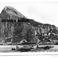 Postales: GIBRALTAR .- NORTHERM END OF ROCK AND AIRPORT .- FOTOGRAFICA . Lote 168869112